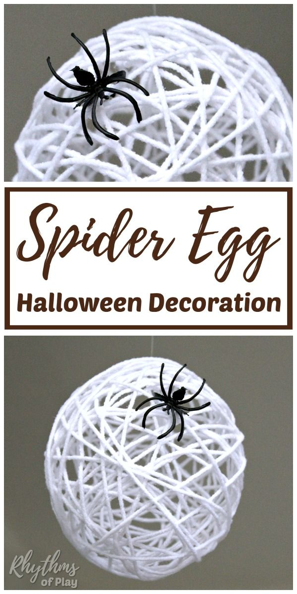 DIY Spider Egg Halloween Decoration Halloween Pinterest - spiders for halloween decorations