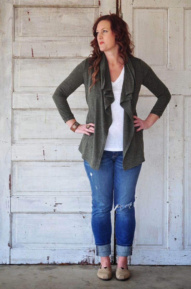 Love the olive green open cardigan. The Honey Pot: My Sixth Fix {stitch fix}