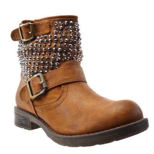 In Offerta! #Offerte Abbigliamento#Buoni Regalo   #Outlet Kickly - Scarpe da Moda Stivaletti - Stivali Scarponi al polpaccio donna strass Tacco a blocco 2.5 CM - Marrone disponibile su Kellie Shop. Scarpe, borse, accessori, intimo, gioielli e molto altro.. scopri migliaia di articoli firmati con prezzi da 15,00 a 299,00 euro! #kellieshop #borse #scarpe #saldi #abbigliamento #donna #regali