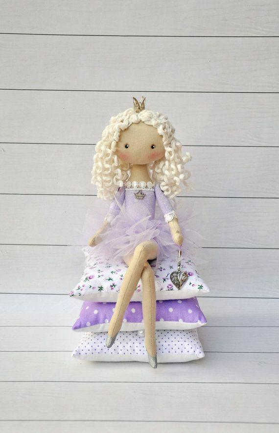 Princess on the Pea cloth doll handmade doll art by NilaDolss