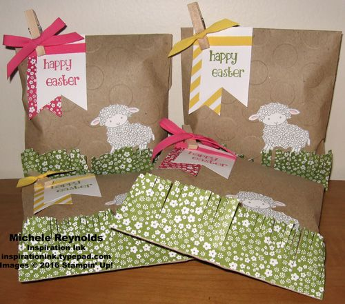 82 best easter lamb retired images on pinterest easter lamb handmade easter treat bags using stampin up products easter lamb stamp kraft negle Images