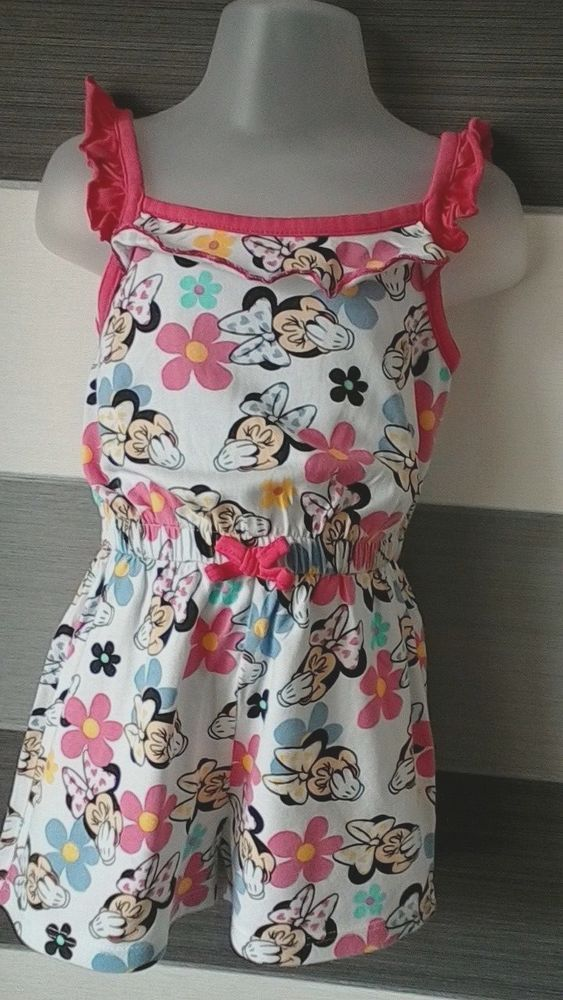 5e72368ec George Baby Girls Disney Minnie Mouse Playsuit 1 1-2 - 2 Years ...