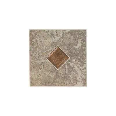 daltile castle de verre gray stone 6 in x 6 in porcelain decorative floor - Glass Tile Castle Ideas