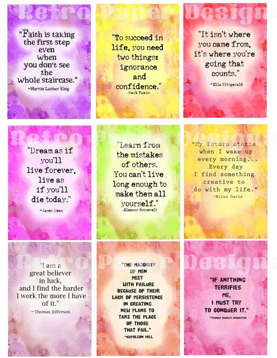 Printable affirmations motivational spiritual ACEO by OldOwlPress, $4.00