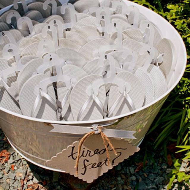 Beach wedding favor idea