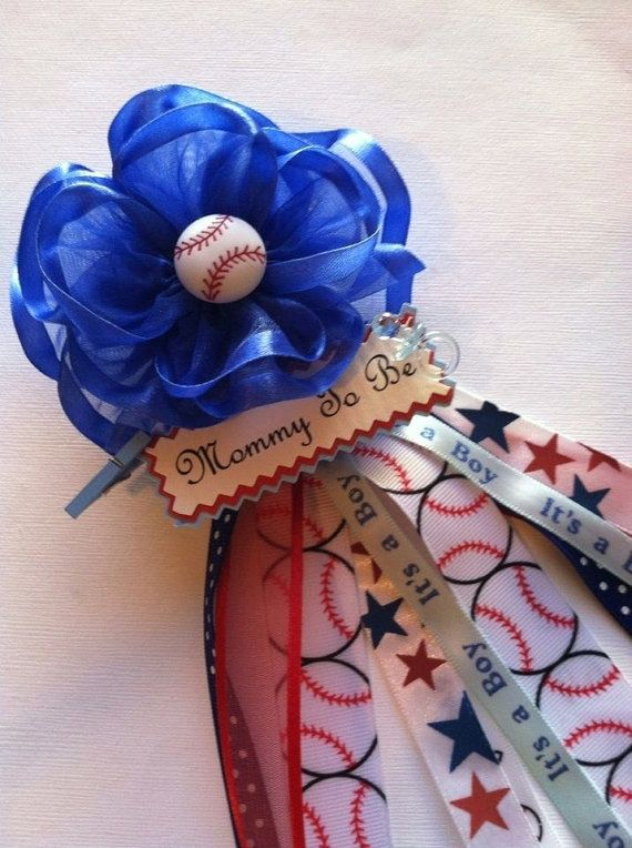 Baseball Mom-to-Be corsage