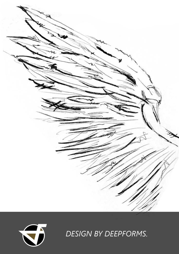 #angel #flügel #illustration #berlin #friedrichshain  #tattoo #art #tattooartist #wings #ideen #tattoomotive #zeichnung www.deepforms.de IF YOU WOULD LIKE TO GET A PERSONAL ILLUSTRATION OR TATTOO-DESIGN PLEASE CONTACT VERENA[AT] DEEPFORMS.DE