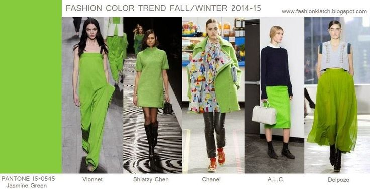 Fashion Color Trend Fall/Winter 2014-15: Jasmine G...