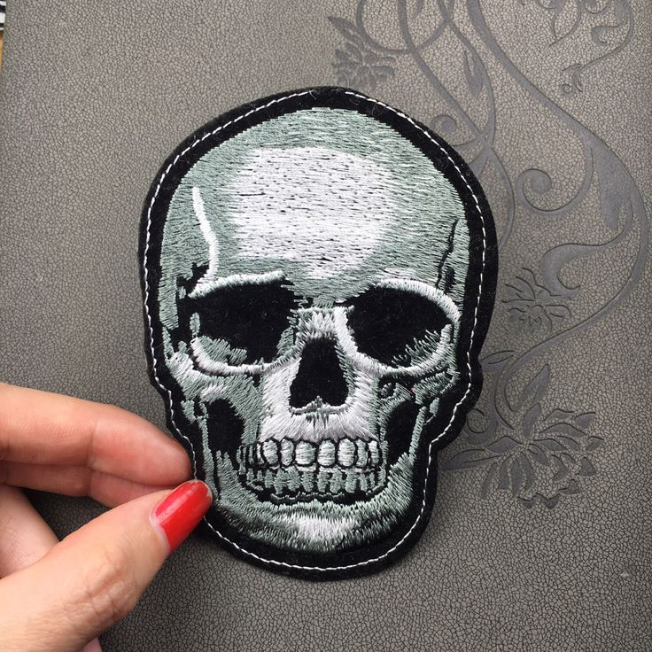 skull patch head skull patch Embroidered funny Punk Patch Applique Embroidery Iron On Patch Sew On Patch by Perfecthandwork on Etsy https://www.etsy.com/listing/286993421/skull-patch-head-skull-patch-embroidered