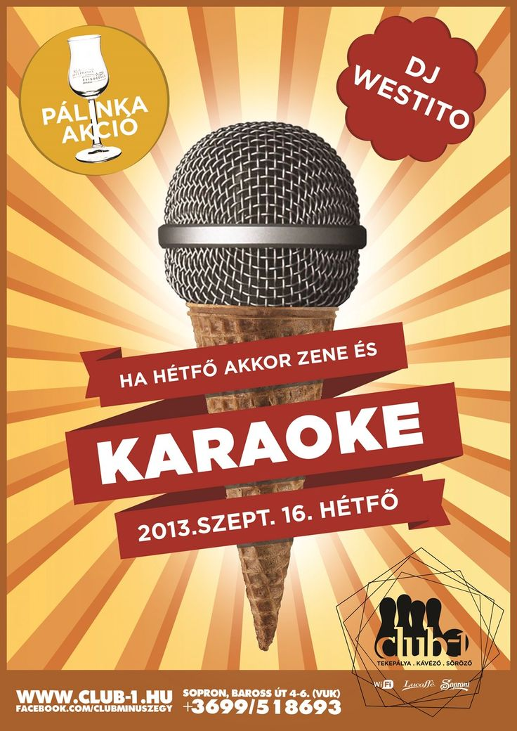 karaoke party flyer by darellart.hu.