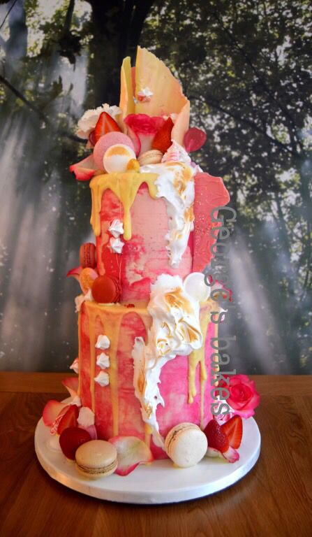 Pink Colour Cake