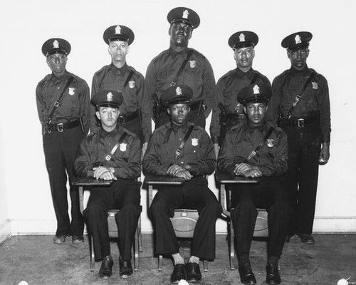 A group photo of the first eight African American police hired by the Atlanta Police Department in 1948. The last of this group, Johnnie P. Jones (2nd from the right in the back row) died on February 27, 2013 at the age of 93. Because of segregation these officers could not carry a gun or arrest a white person. http://www.obitoftheday.com/post/44631988149/johnniepjones#