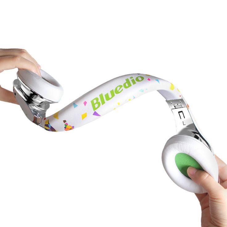 Bluedio A( Воздух ) Bluetooth гарнитура, модные беспроводые наушники с микрофоном, HD диафрагма, складное оголовье, 3D объёмный звук купить на AliExpress