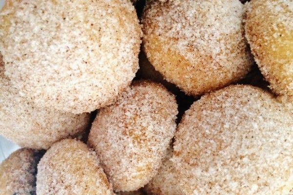 Polvorones: a soft crumbly cinnamon cookie aka Mexican Christmas Cookies. #mexicanchristmascookies #mexicancookies #polvorones