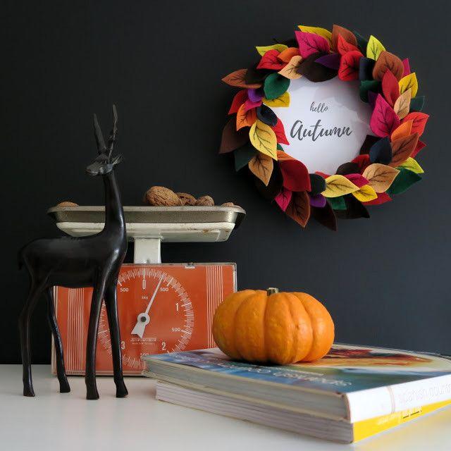 Осенний венок из фетра (МК)   Лавка творческих идей