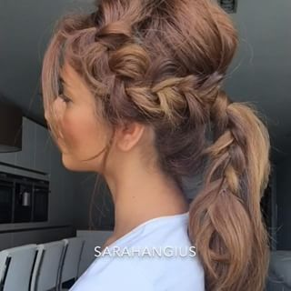 A very unique pony tail