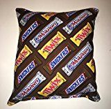 Twix Candy Pillow Snickers & 3 Musketeers Candy Pillow HANDMADE Man Cave Pillow Made USA Pillow is approximately 10 X 11 Movie Room Film TV Theater Kid Living Rooms