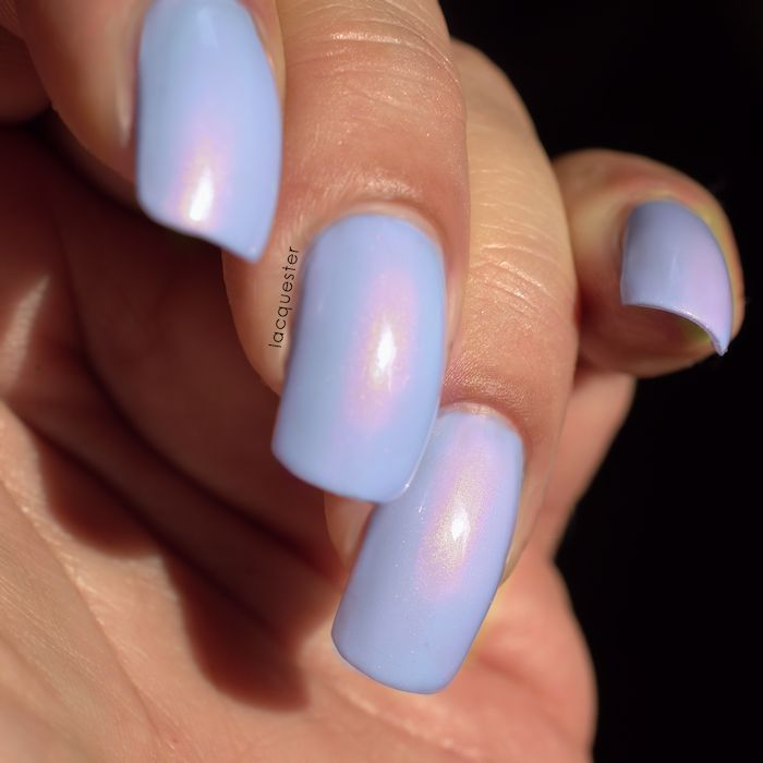 Lacquester - Don't Be Shy | A semi neon cool lilac colored nail polish with a copper shift. A one of a kind nail polish!