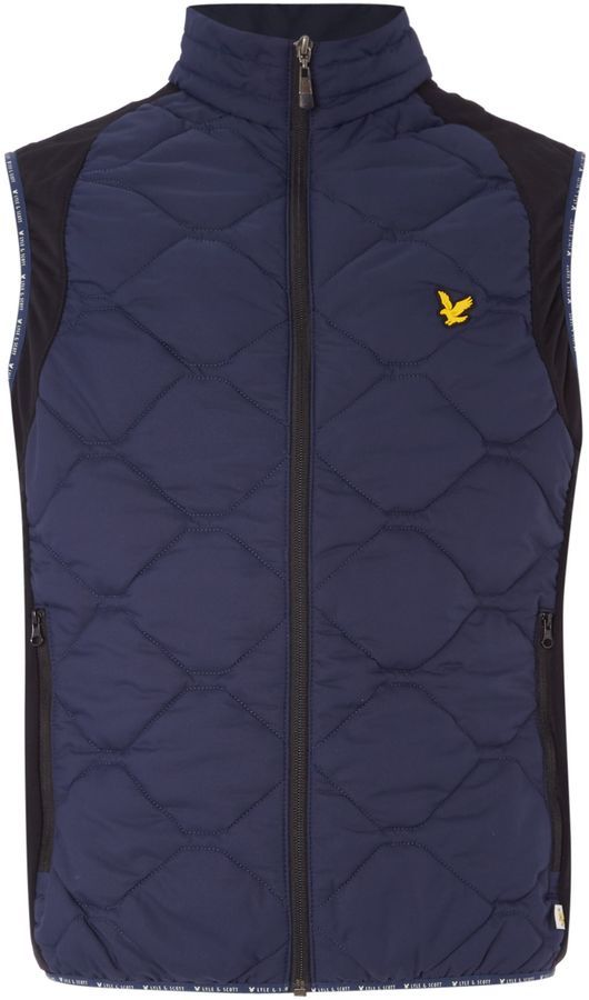 Men's Lyle and Scott Golf Irvine Quilted Gilet