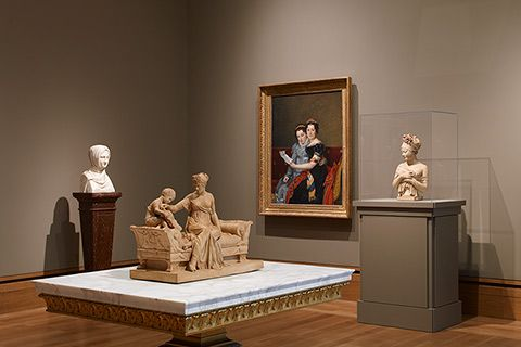 Gallery of art of late Neoclassicism in European art and design.