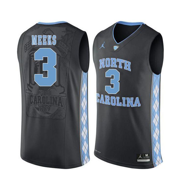 north carolina tar heels 3 kennedy meeks black college basketball jersey