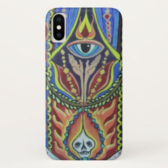 psychedelic FOLK ART third-eye skull iPhone X iPhone X Case
