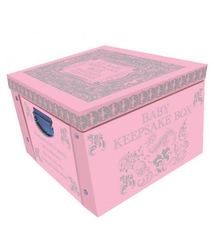 Pink My Baby Keepsake Box A Lifetime Of Memories Large Collapsible Storage  Box