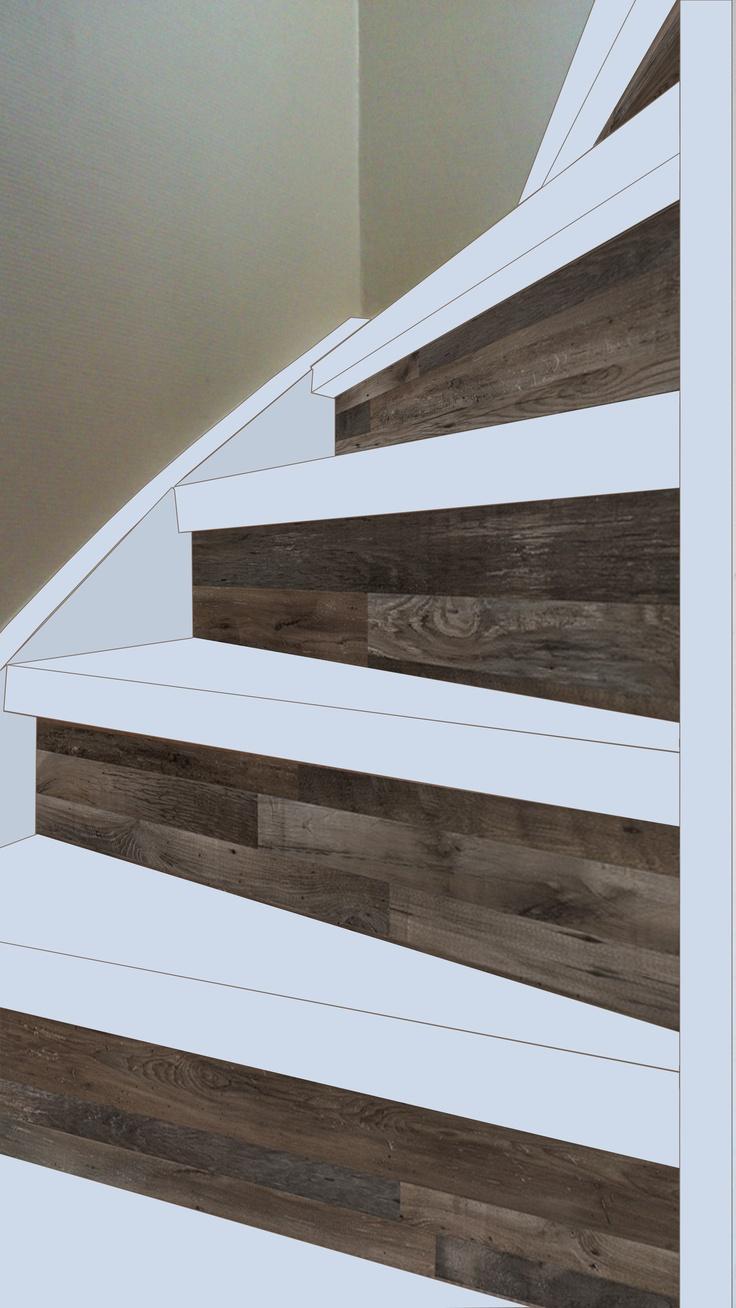 20 beste idee n over geschilderde trap op pinterest trappen schilderen verf trap en trappen - Deco houten trap ...