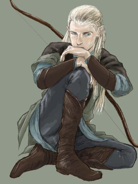 Legolas by ミタカ Original website: https://www.pixiv.net/member.php?id=8927678 Lots of awesome artwork on the site (especially of Legolas and Aragorn), but the site unfortunately won't allow me to pin them here :(
