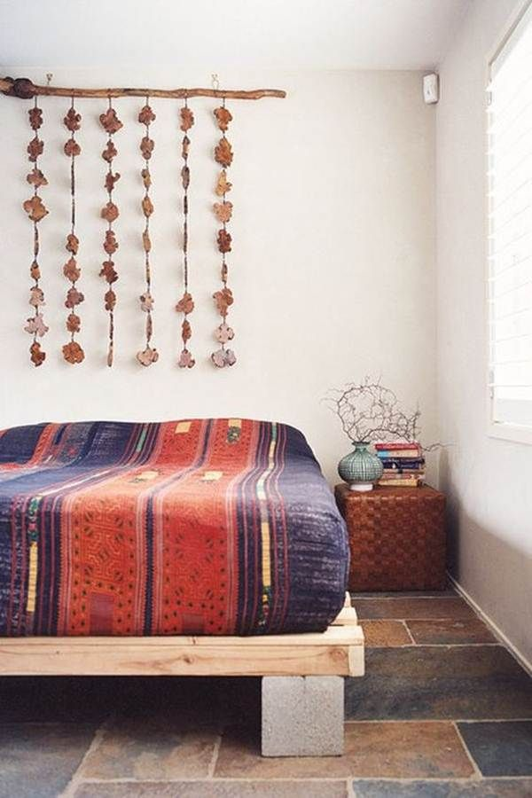 Base de cama con bloques de hormigón
