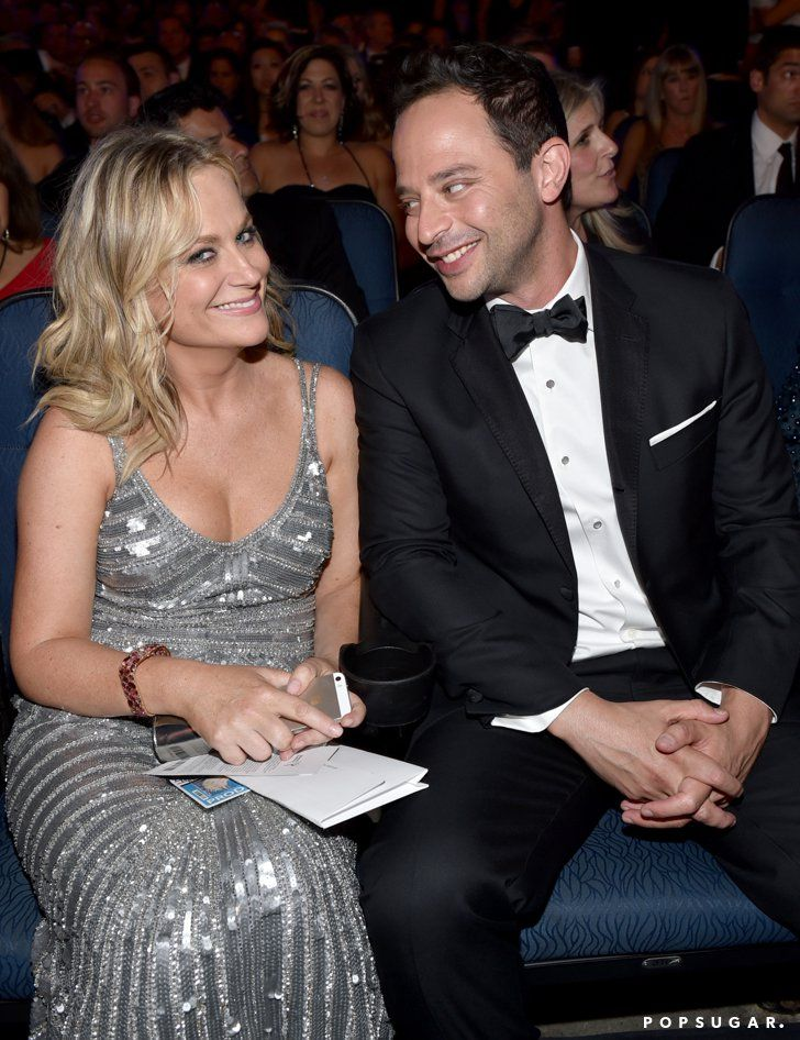 Pin for Later: Relive the Best Moments From the 2014 Emmys  Funny couple Amy Poehler and Nick Kroll sat together in the audience.
