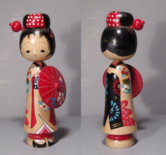 vintage kokeshi of a Maiko Geisha
