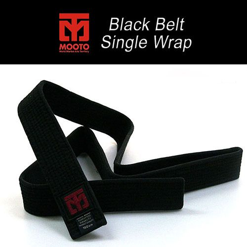 Mooto Fighter's Black Belt 4.5cm Wide Single Wrap