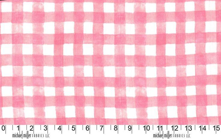 Mini Printed Gingham MMDZ7062BLOSSOM http://www.eqsuk.com/products/fabrics/designer-fabrics/b/michael-miller/michael-miller-double-gauze/7636  www.eqsuk.com/stockist #MMF #EQS