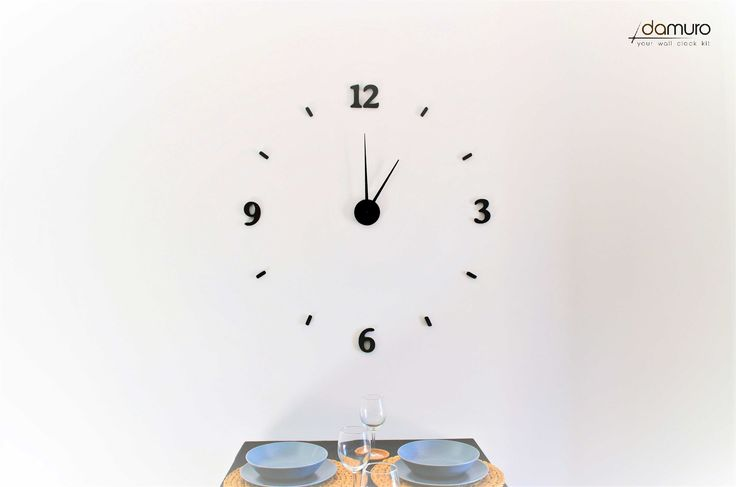 Modern | damuro (your wall clock kit) - Large 3D embossed wall clock, customizable #clock #diy #wallclocks