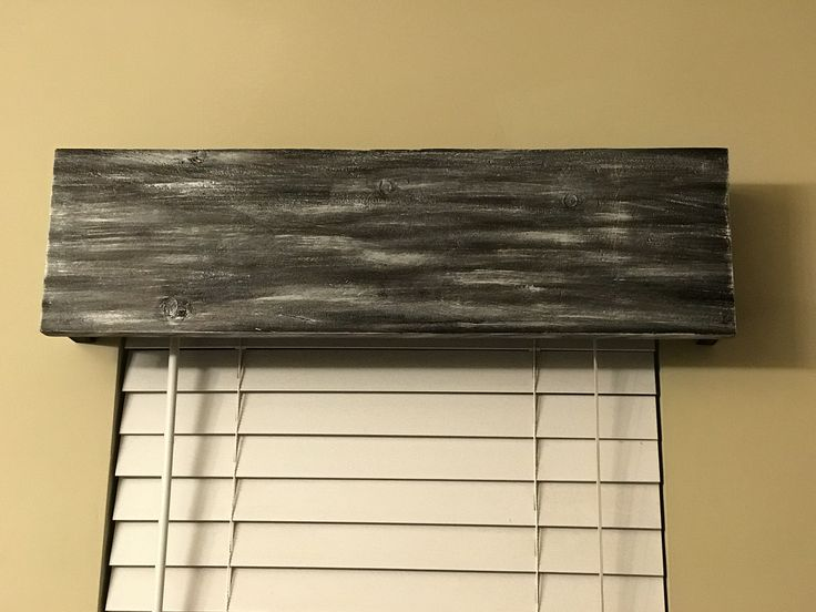 wooden valance for our beach style bathroom - Styles Of Valances