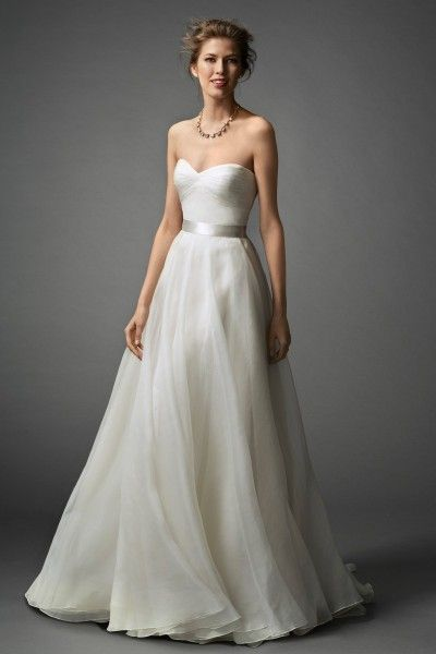 1000 ideas about satin wedding dresses on pinterest for Silk organza wedding dress