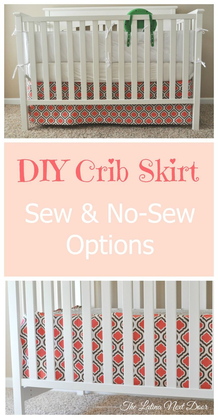 The Easiest DIY Crib Skirt Tutorial