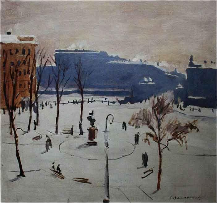 Ведерников А. Ленинград. Чернышева площадь 1946 г.
