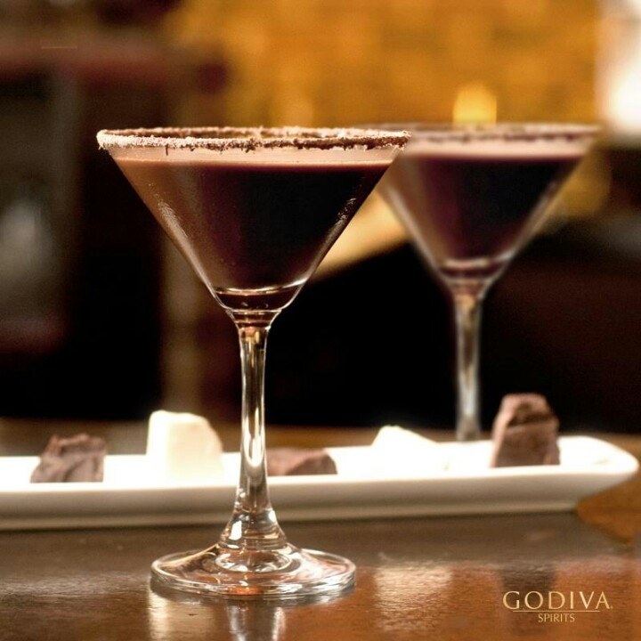 Godiva chocolateColors Martinis, Chocolates Martinis
