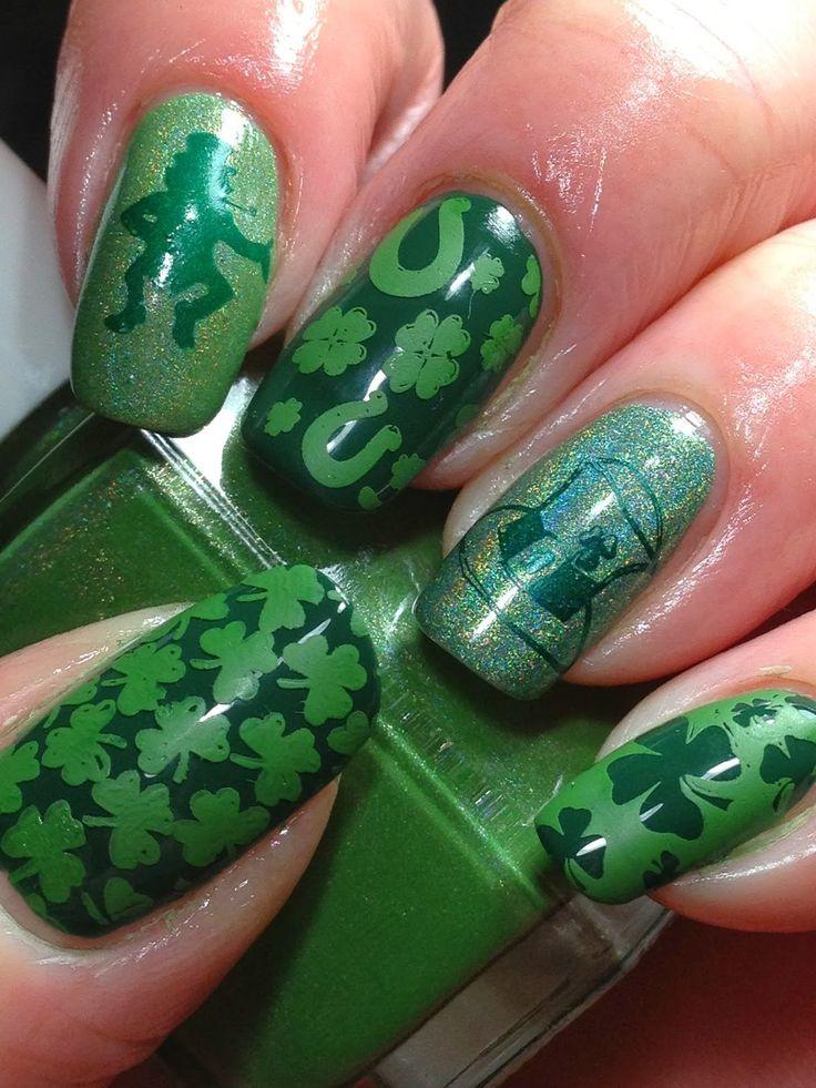 Mejores 66 imágenes de St. Patrick Nails en Pinterest | Día de san ...