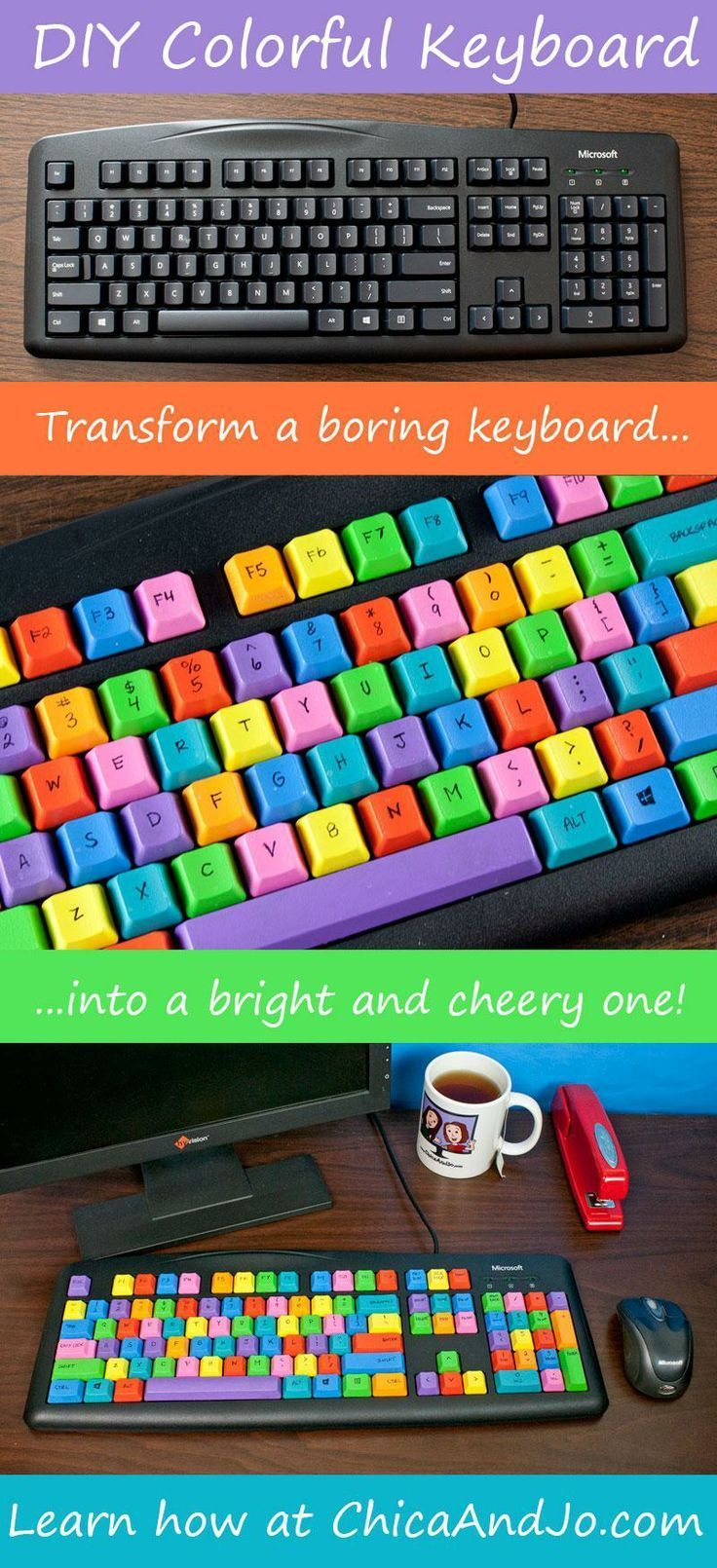 DIY colorful computer keyboard