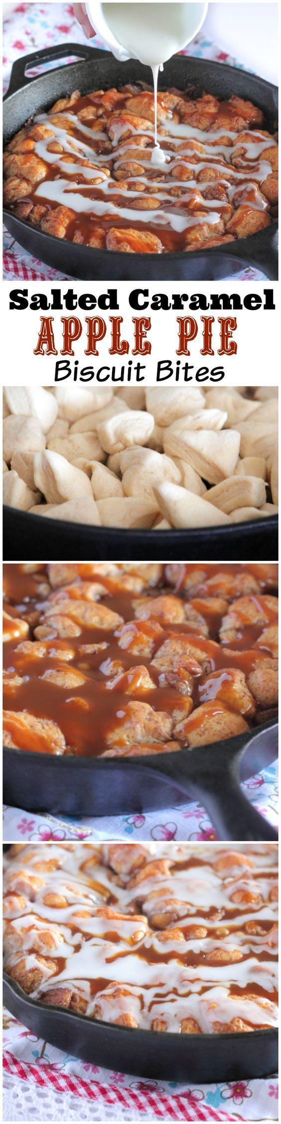 Salted Caramel Apple Pie Biscuit Bites... Dessert recipe to try.: