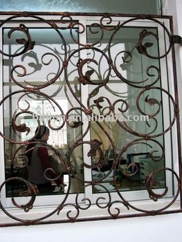 Decorative Wrought Iron Window Grills Plus Extra Protection And Piece Of Mind