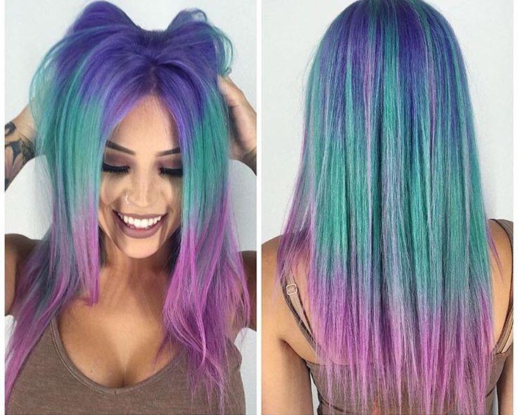 blue, teal & purple