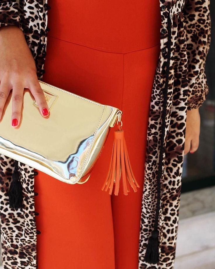 Mala Dourada Mambo Macacão Tijolo @coquelicot_woman Casaco/Vestido Leopardo Lolita 💛💛💛 #bombshellfallwinter17