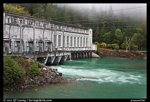 Newhalem Dam on Diablo Lake where Seattle gets her water supply.