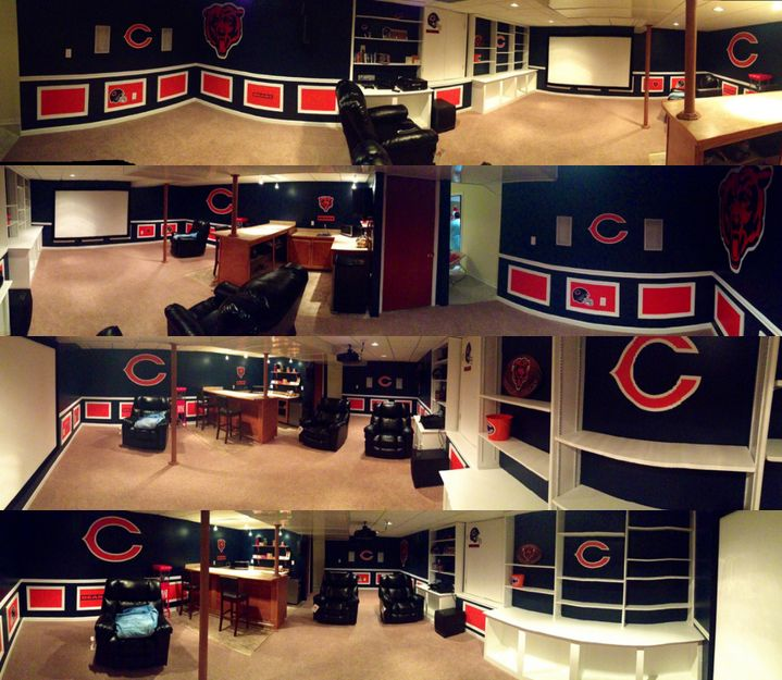 Chicago Bears Man Cave Decor : Best sports cave images on pinterest cubs baseball