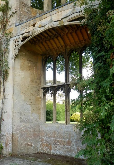 View Through Ruins Of Sudeley Castle Window By Alison Valerie Via Flickr