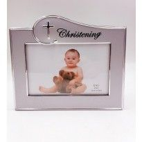 Christening Photo Frame- Silver